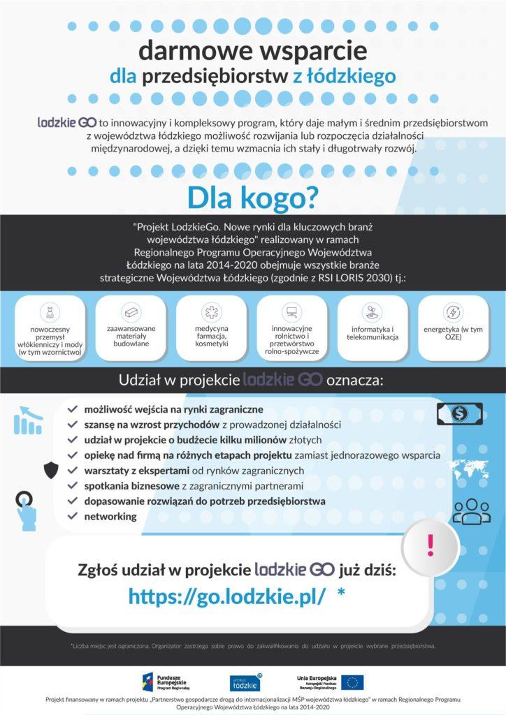 Szczegółowe informacje na www.go.lodzkie.pl